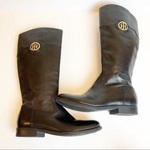 Tommy Hilfiger leather riding equestrian boots